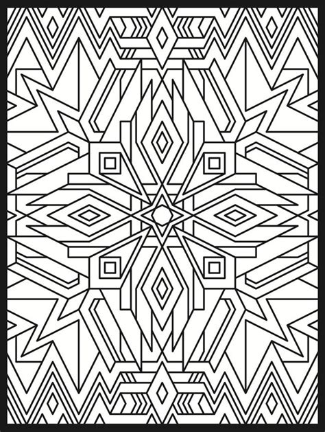 coloring pages art deco deco tech stained glass coloring book geometric patterns