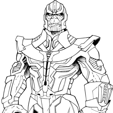 marvel thanos coloring pages marvel thanos coloring pages sketch coloring page