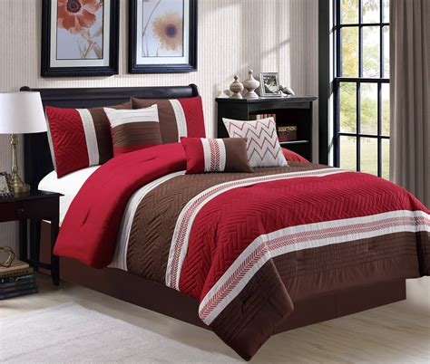 brown and burgundy comforter set luxury embossed 7 piece comforter set burgundy brown white