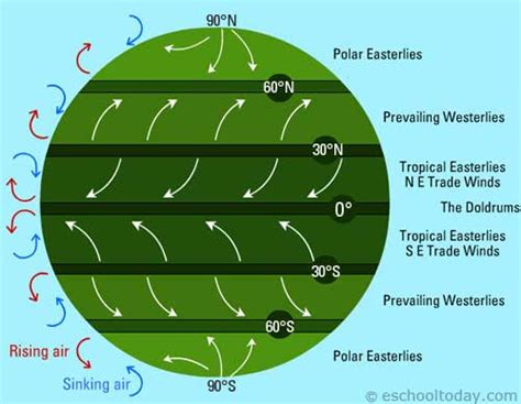 Wind Pattern Types | types of winds include global and local winds