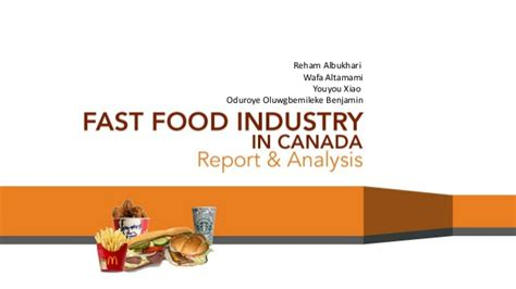 Mba In Business Analytics In Canada by Fast Food Industry In Canada 2012