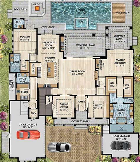 high end home plans high end florida house plan 31838dn architectural designs house plans