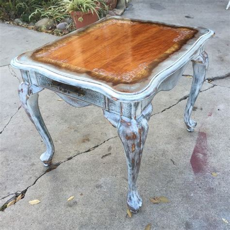 white shabby chic table sold shabby chic table antique distressed side table