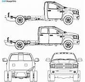 CAR Blueprints  Dodge Ram 3500 Hd Vector