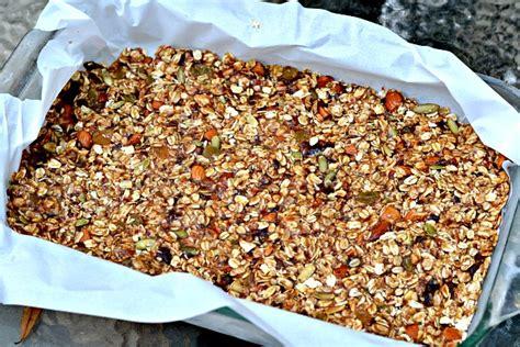 easy healthy granola bars peanut butter runner