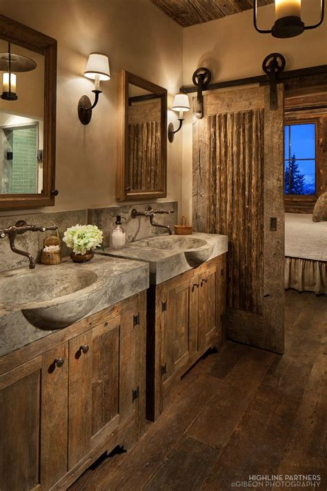 Rustic Lighting For Bathrooms by 17 Best Ideas About Rustic Bathrooms On