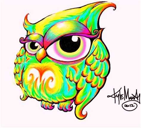 Owl Color By Sommadat On Deviantart Really Owl Drawings With Color
