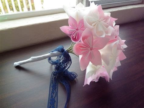 How To Make A Bouquet Of Origami Flowers - sakacon diy kusudama flower bouquet