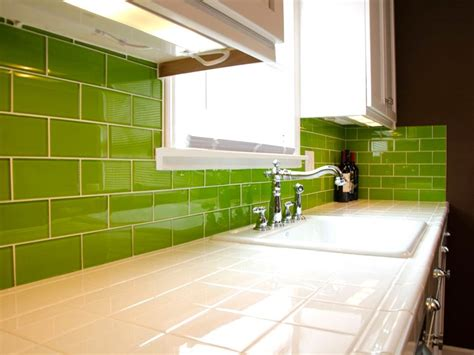 bright green glass subway tile in lemongrass modwalls