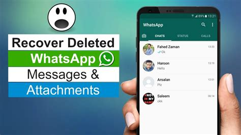 tutorial how to restore deleted whatsapp messages on how to recover deleted whatsapp messages on android youtube