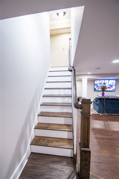 basement stairs basement stairs relocation in warren nj design build pros