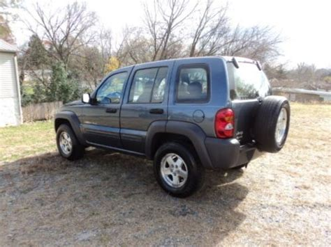 Jeep Liberty Mpg Purchase Used 2002 Jeep Liberty Sport 4x4 Low Mileage