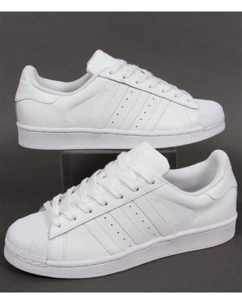 Adidas Superstar All White 100 Original adidas superstar trainers white shoes basketball mens