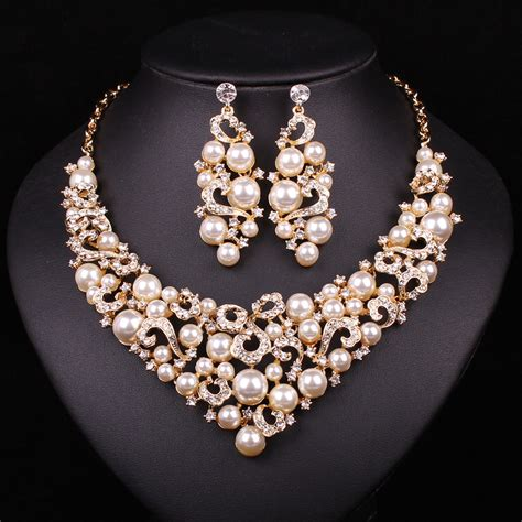 bridal jewelry sets wedding necklace earring for brides