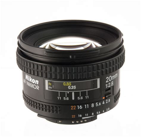 the nikon af nikkor 20 mm f 2 8 d lens specs mtf charts