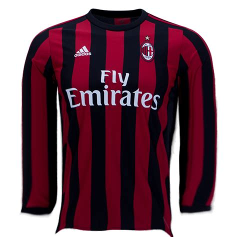 Jersey Ac Milan Home Ls 1213 ac milan 17 18 home ls jersey personalized tnt soccer shop