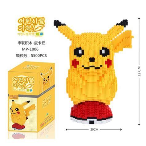 Dijamin Nano Block Bricks Pikachu Lele new pikachu nano block 32cm height toys bricks figurines on carousell