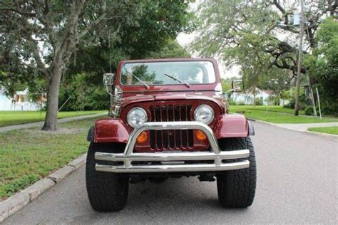 custom convertible jeep 1980 jeep cj 5 custom 826 miles bronze convertible 304 ci