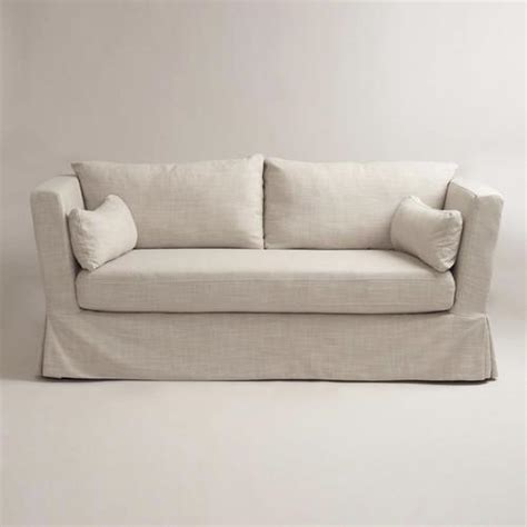 Linen Crosby Sofa Slipcover World Market Linen Slipcovers For Sofas