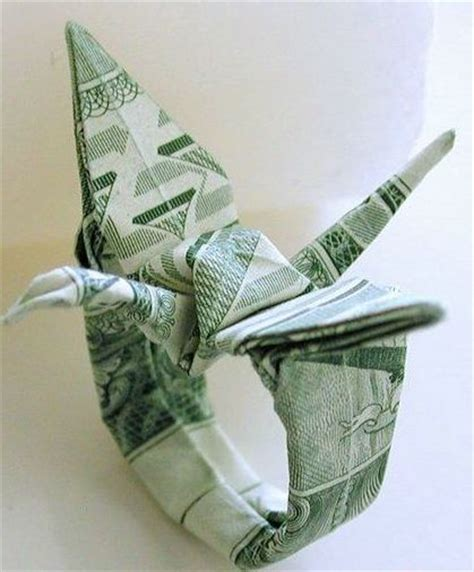 Origami Money Crane - origami dollar ring crane warning harder than it looks