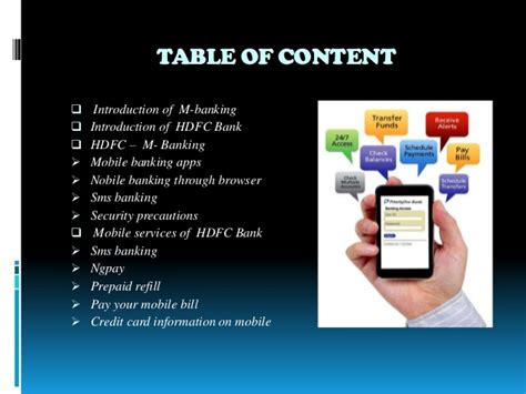 hdfc bank mobile banking m banking in hdfc bank ppt