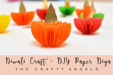 paper craft ideas for diwali diwali craft paper diya tutorial