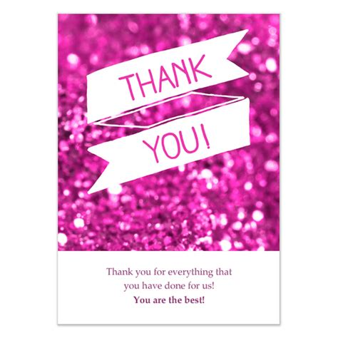 Can You Use A Pink Gift Card In Victoria Secret - pink glitter thank you card invitations cards on pingg com