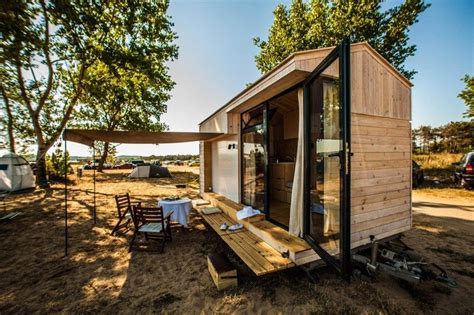 small vacation homes live a big life in a tiny house on wheels