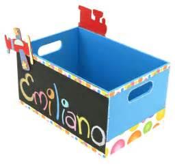 cajas en fomi para nias original caja de madera con pizarr 243 n color azul pintura