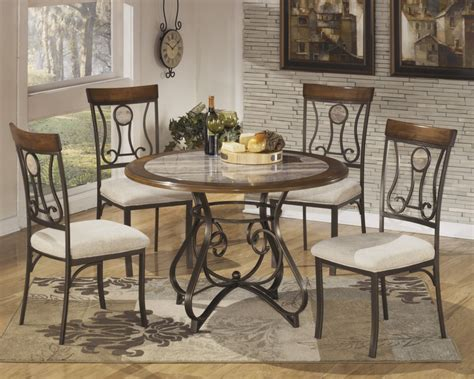 dining room table top d314 15b 15t ashley furniture hop stand round dining room