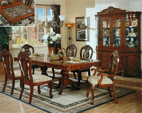 luxury dining room set luxury solid wood diningroom set ds 1 eif china