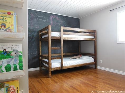 how to build bunk beds building a bunk bed our home notebook