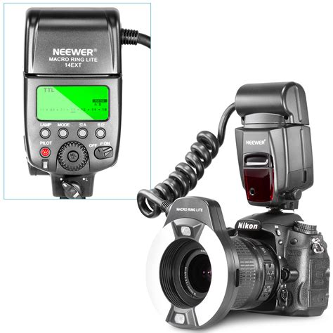 neewer macro ring flash led light for nikon d3000 and other nikon dslr cameras ebay