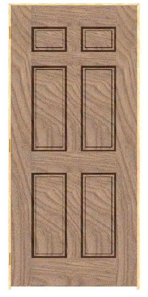 Panelled Door Square Shoulder Profile Mould And Applied 20 Inch 6 Panel Interior Door
