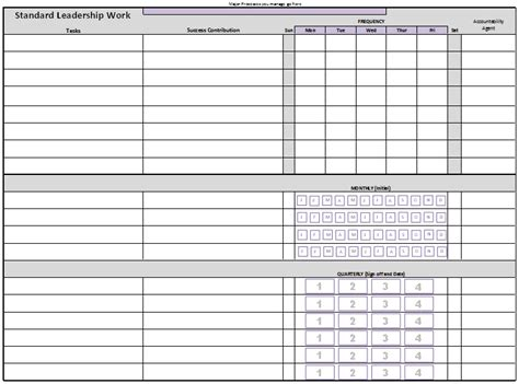 standard work templates commonpence co