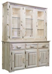 China Closets Hutches by Montana Woodworks China Hutch In Clear Lacquer Rustic