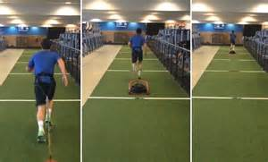 rory mcilroy with drag weights during the fedex