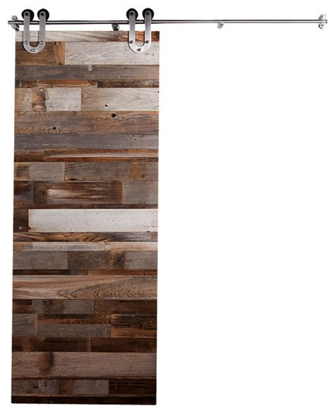 Reclaimed Wood Barn Door Rustic Interior Doors By Reclaimed Barn Door Hardware