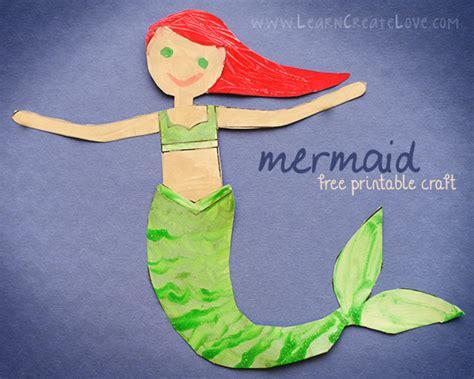 mermaid crafts for printable mermaid craft ii