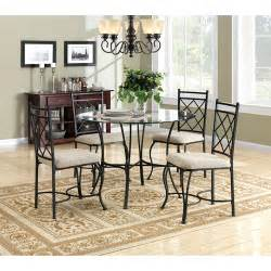 glass and metal dining room sets mainstays 5 glass top metal dining set walmart