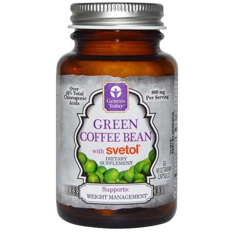 Green Coffee Bean 60 Cap Genesis Today Green Coffee Bean With Svetol 60 Veggie