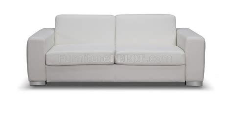 alfa sofa bed convertible in white faux leather by whiteline