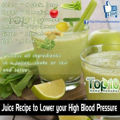 Blood Pressure And Detox by Juice Recipe To Lower Your High Blood Pressure Image