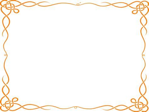 clipart borders orange border clipart
