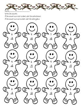 gingerbread math worksheets gingerbread addition worksheet by parr s primary potpourri tpt