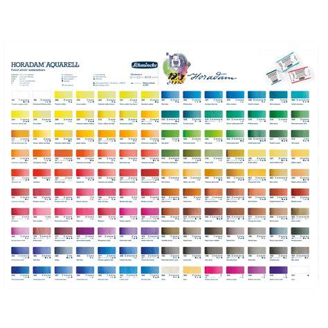 schmincke watercolor schmincke horadam watercolour printed colour chart