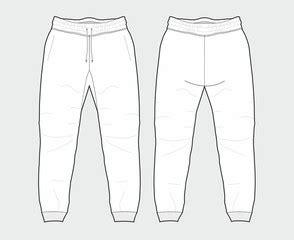 Search Photos Sportswear Sweatpants Template Vector