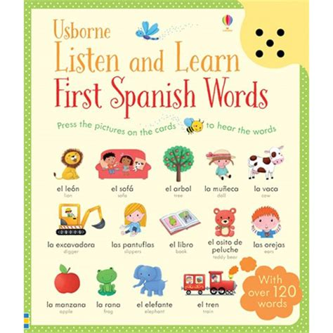 listen and learn first 1409597733 usborne listen and learn first spanish words little linguist