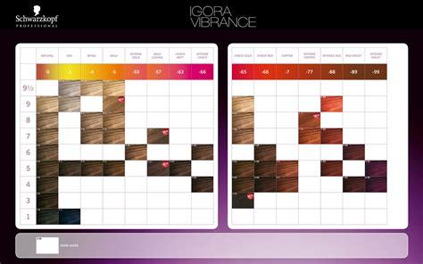 igora color chart schwarzkopf professional igora vibrance color chart 2014