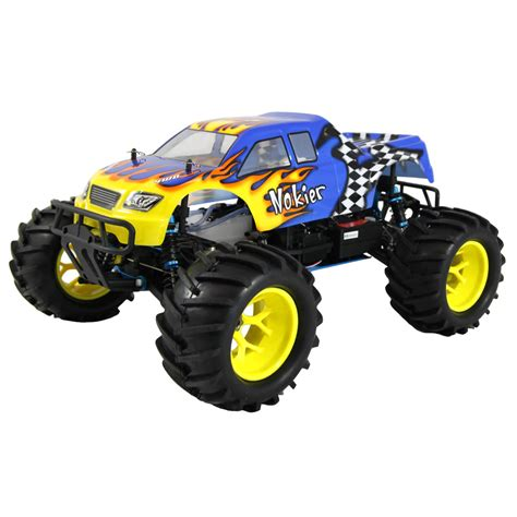 hsp nitro monster hsp 94862 1 8 blue yellow rc monster truck at hobby warehouse
